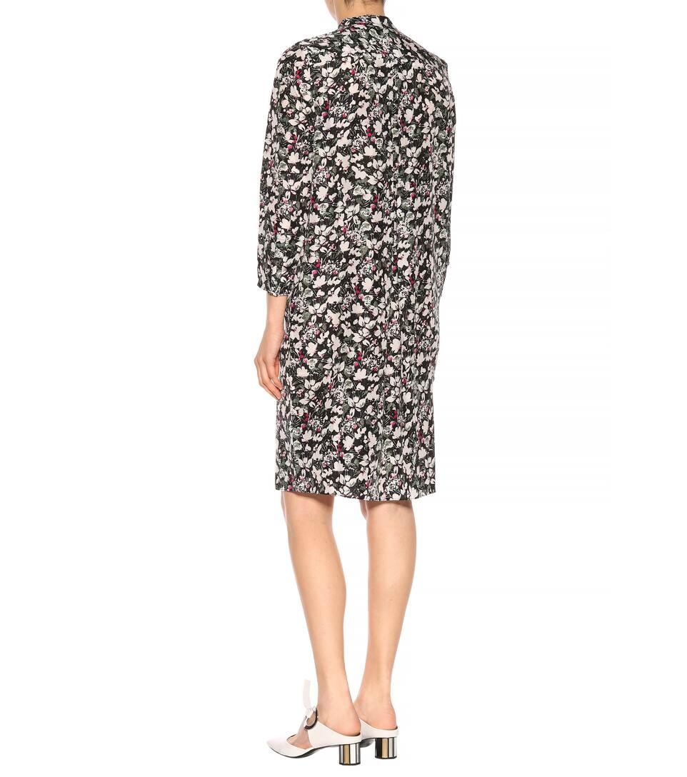 Acne Studios Bedrucktes Kleid Doree aus Seide