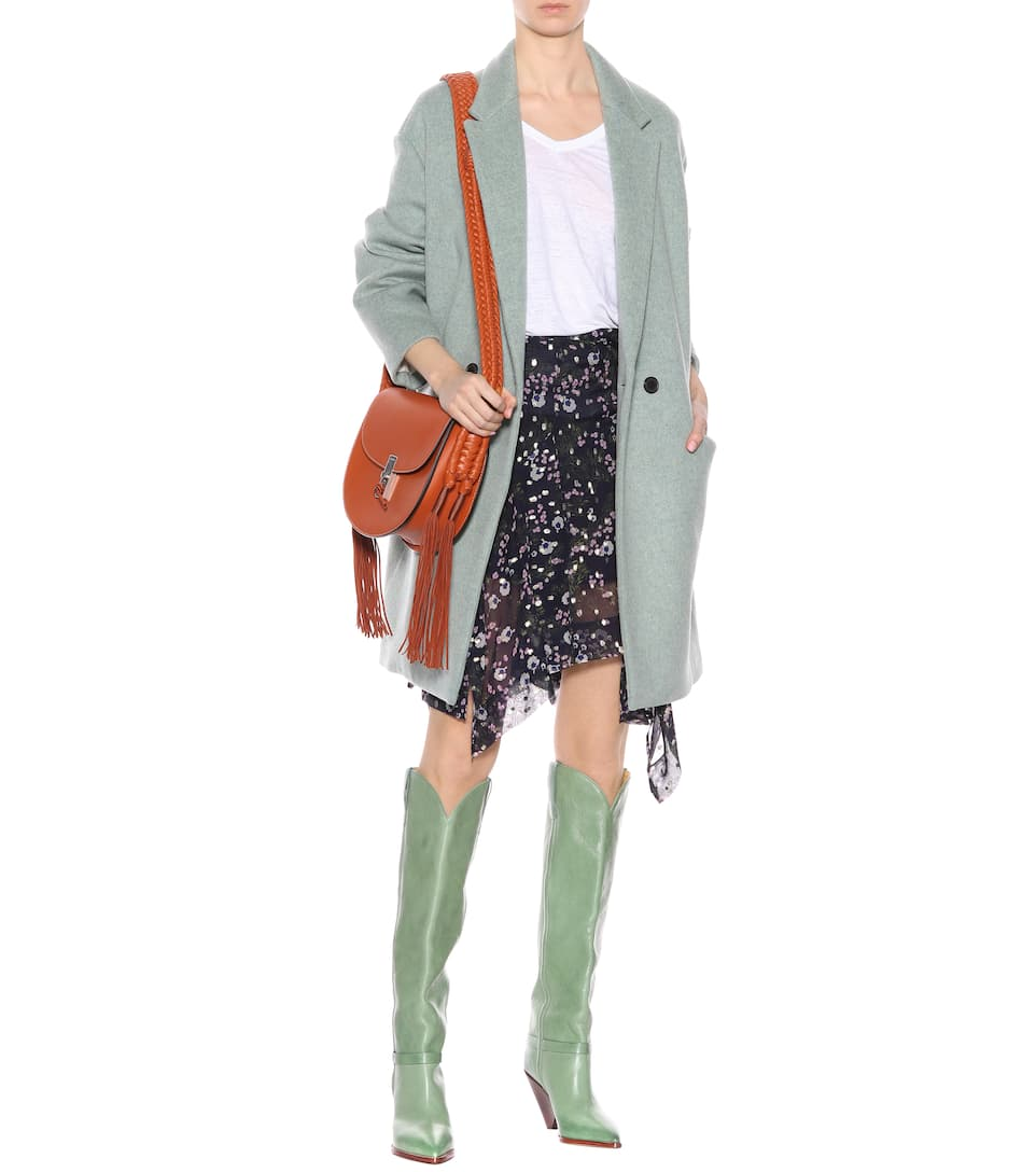 –Lenskee mytheresa para Green Exclusivo Isabel com Marant boots leather OXwWqntRxc