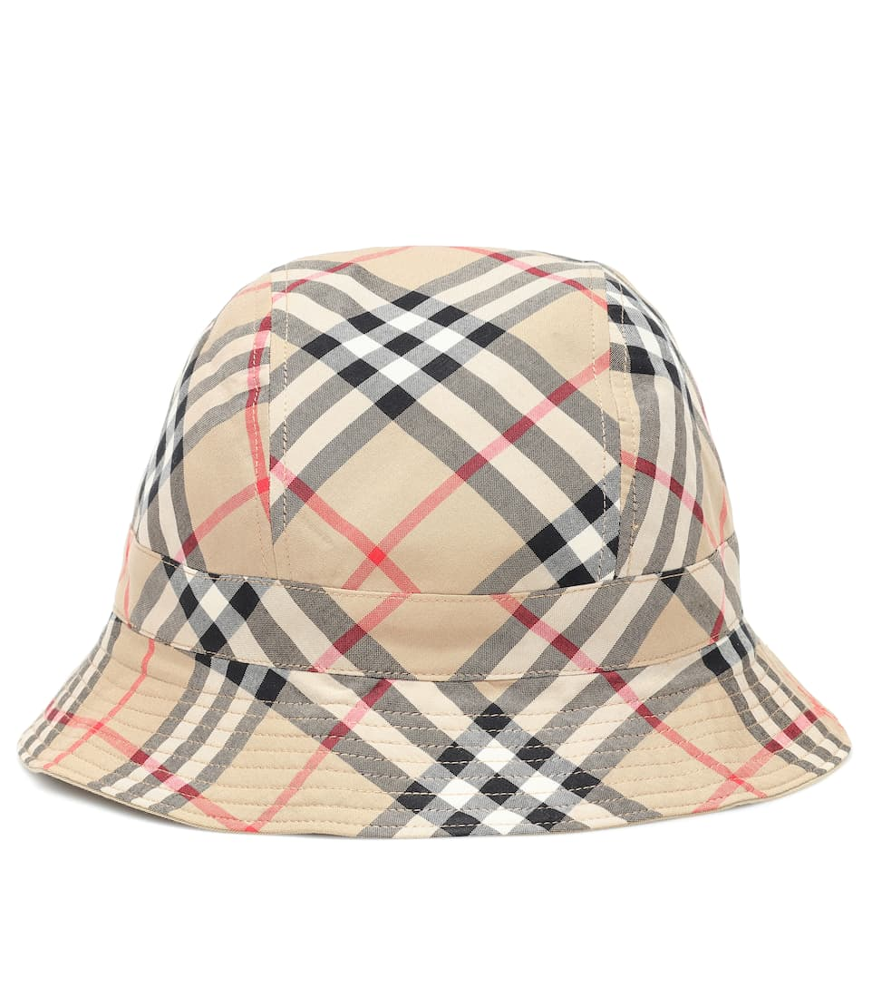 728ddca19fc Vintage Check Cotton Bucket Hat