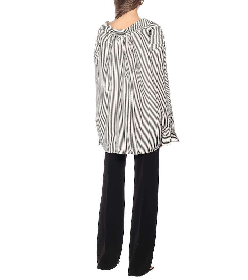 Striped Cotton-Blend Shirt | Balenciaga - Mytheresa