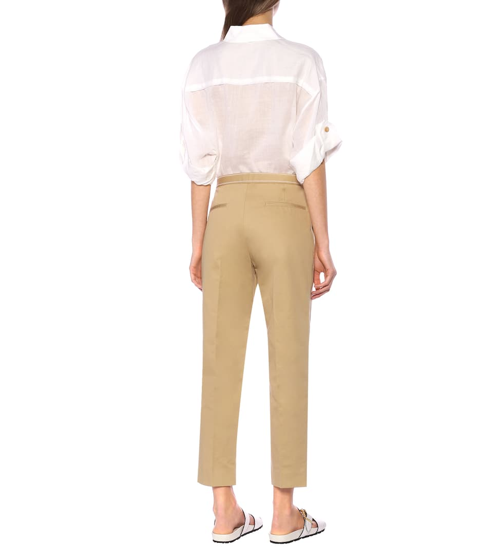 Marni - Mid-rise cotton and linen pants