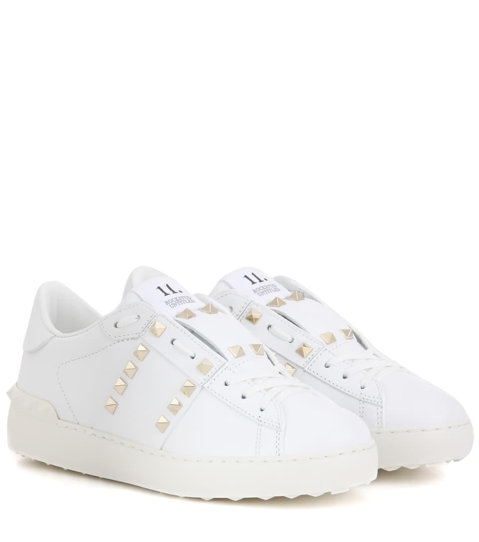 3a8af908594e Valentino Garavani Rockstud Untitled Leather Sneakers - Valentino ...