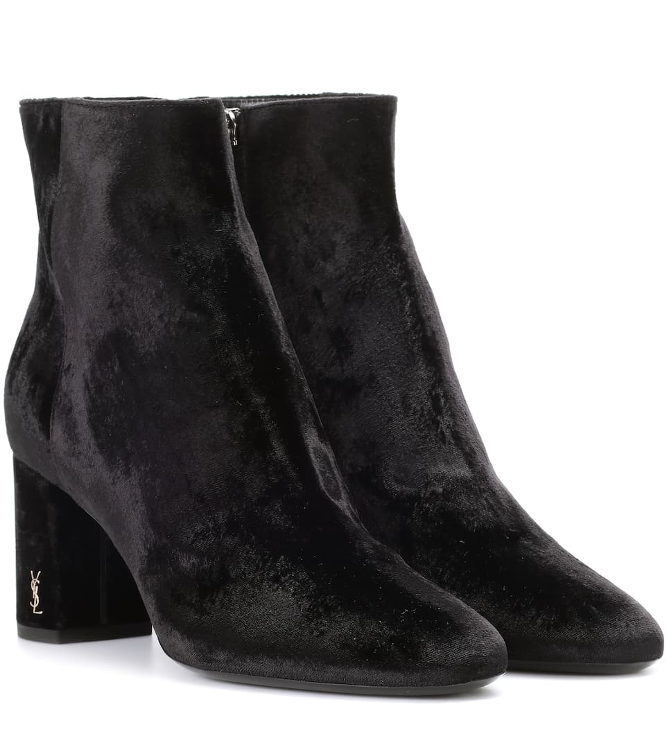 Bottines en velours Loulou 70Saint Laurent ukW0aBc