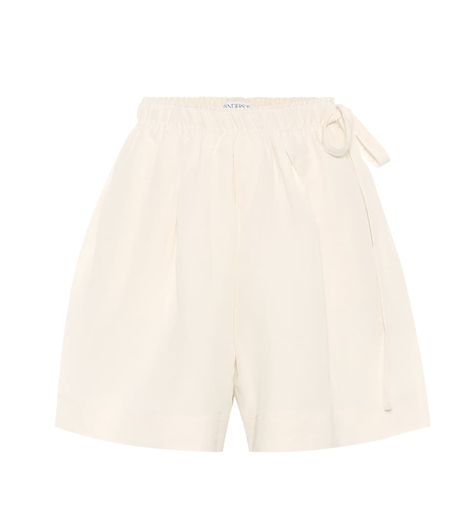 JW Anderson Linen and silk shorts Off White How Much Cheap Price Outlet Store Cheap Price Discount Shop Buy Online Authentic zsxAUUpf