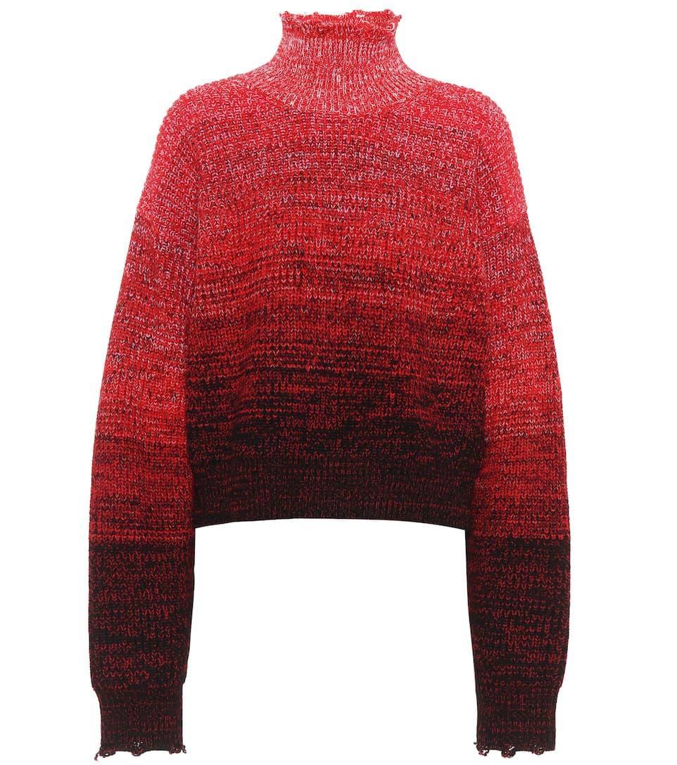 Helmut Lang Distressed Pullover aus Wolle und Baumwolle
