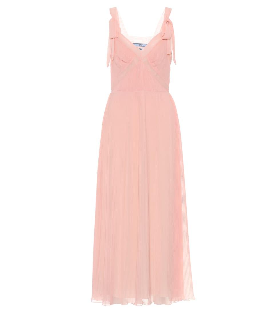 Prada Plissiertes Kleid aus Seide