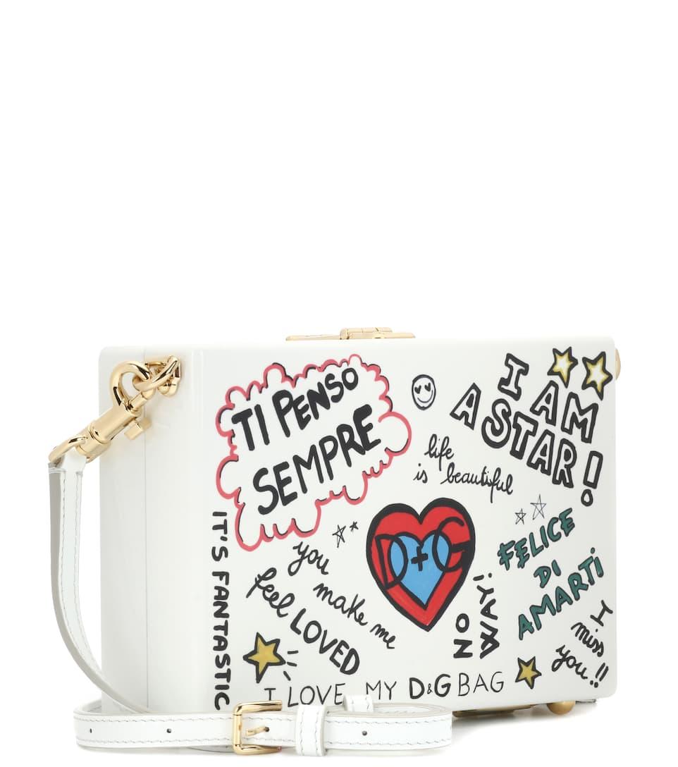 Dolce & Gabbana Clutch Dolce Box Graffiti aus Holz