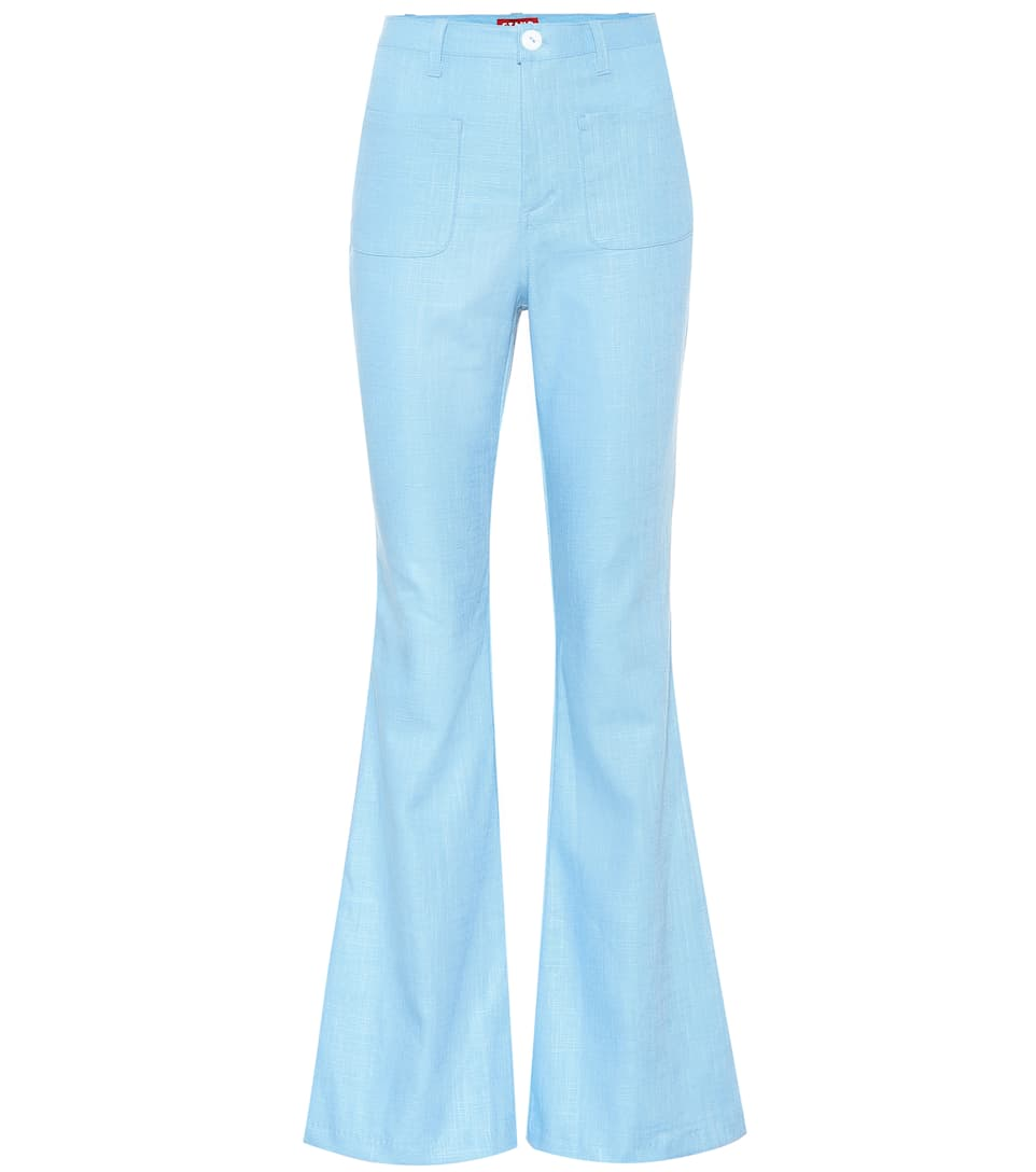 PATCHES LINEN-BLEND TROUSERS