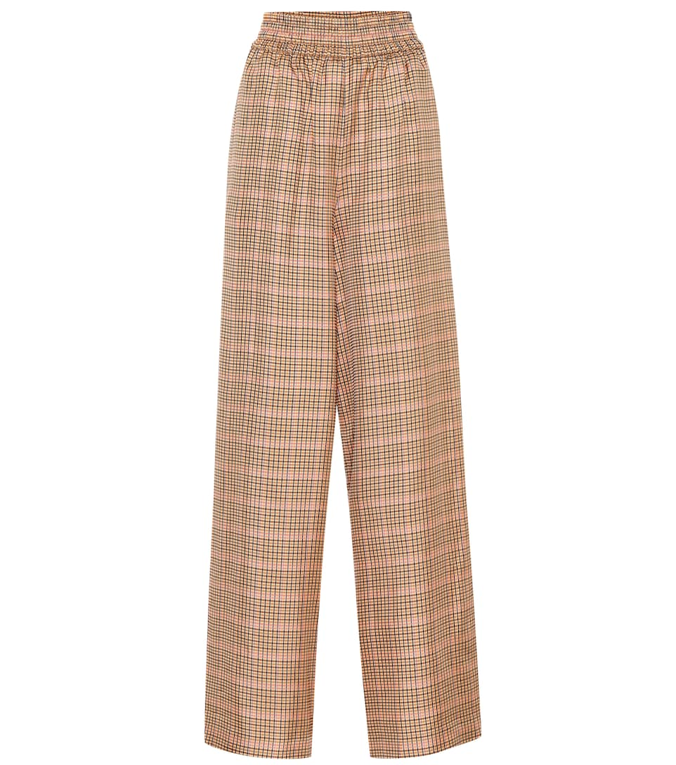 78f519fda4 Golden Goose - Plaid wide-leg pants | Mytheresa
