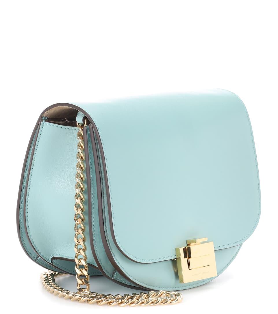 Victoria Beckham Tasche Box With Chain aus Leder