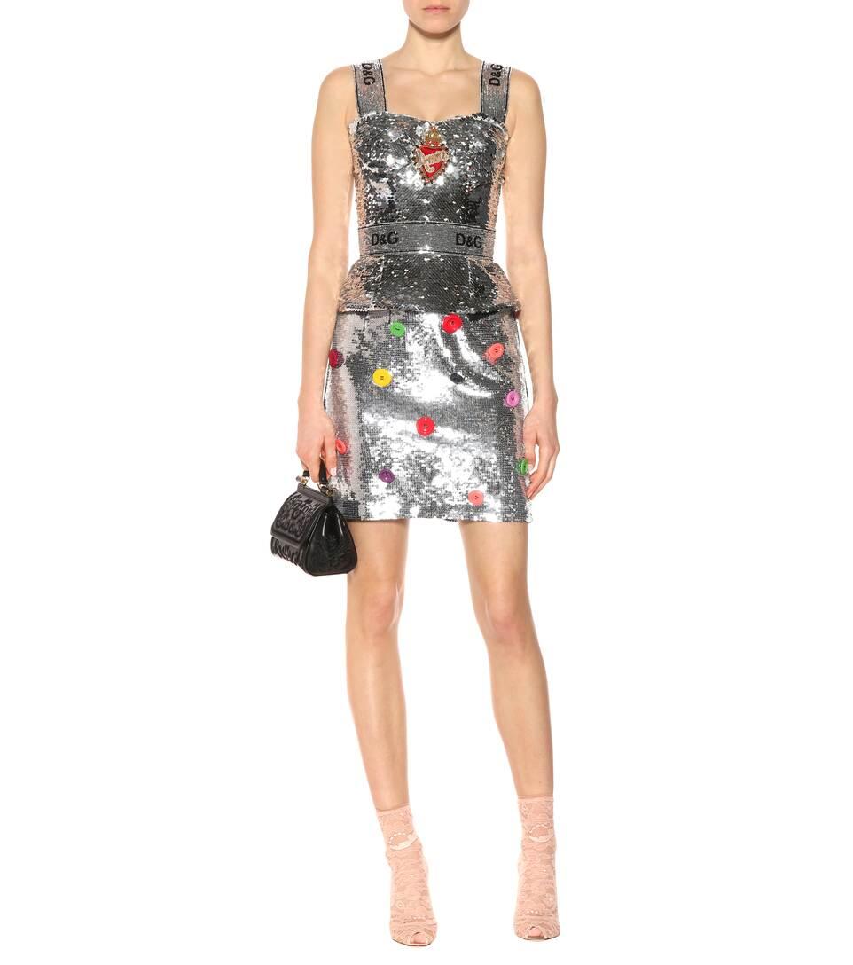 Dolce & Gabbana Verziertes Pailletten-Top Outlet Rabatt Spielraum Nicekicks 5q7UAV