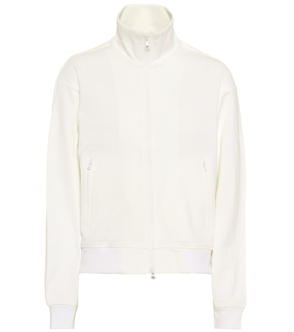 Sweat Mélangé Coton Zippé En shirt wBxr1BYq