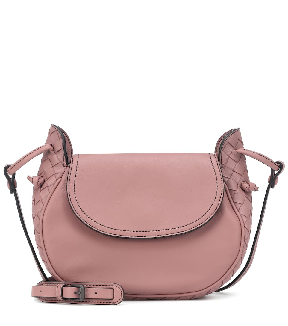 Nodini Flap Leather Shoulder Bag - Bottega Veneta  0faac6ecaa5f1