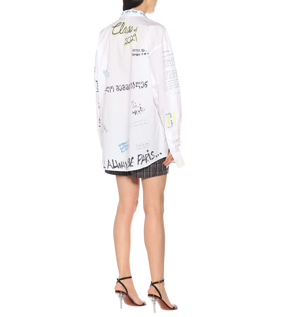 Vetements T-shirts Printed cotton shirt