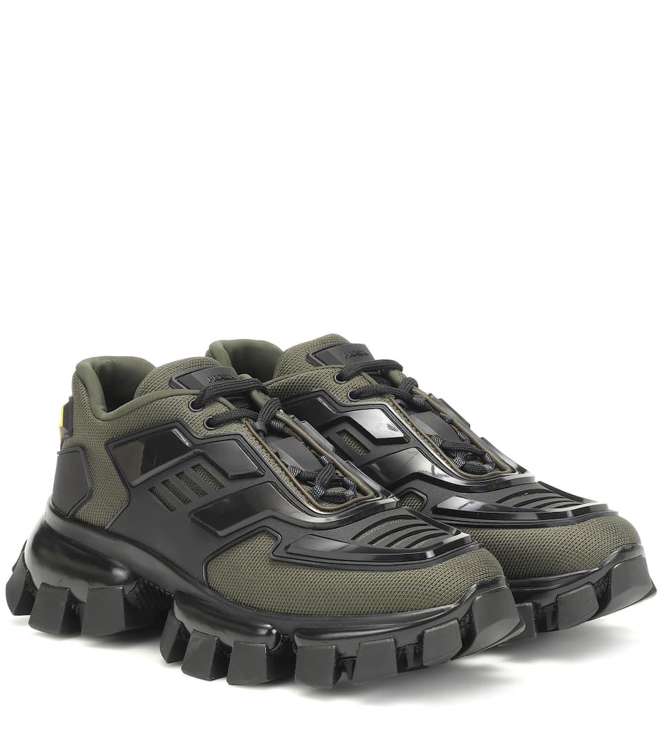 Prada Rubber Cloudbust Thunder Sneakers in Dark Military