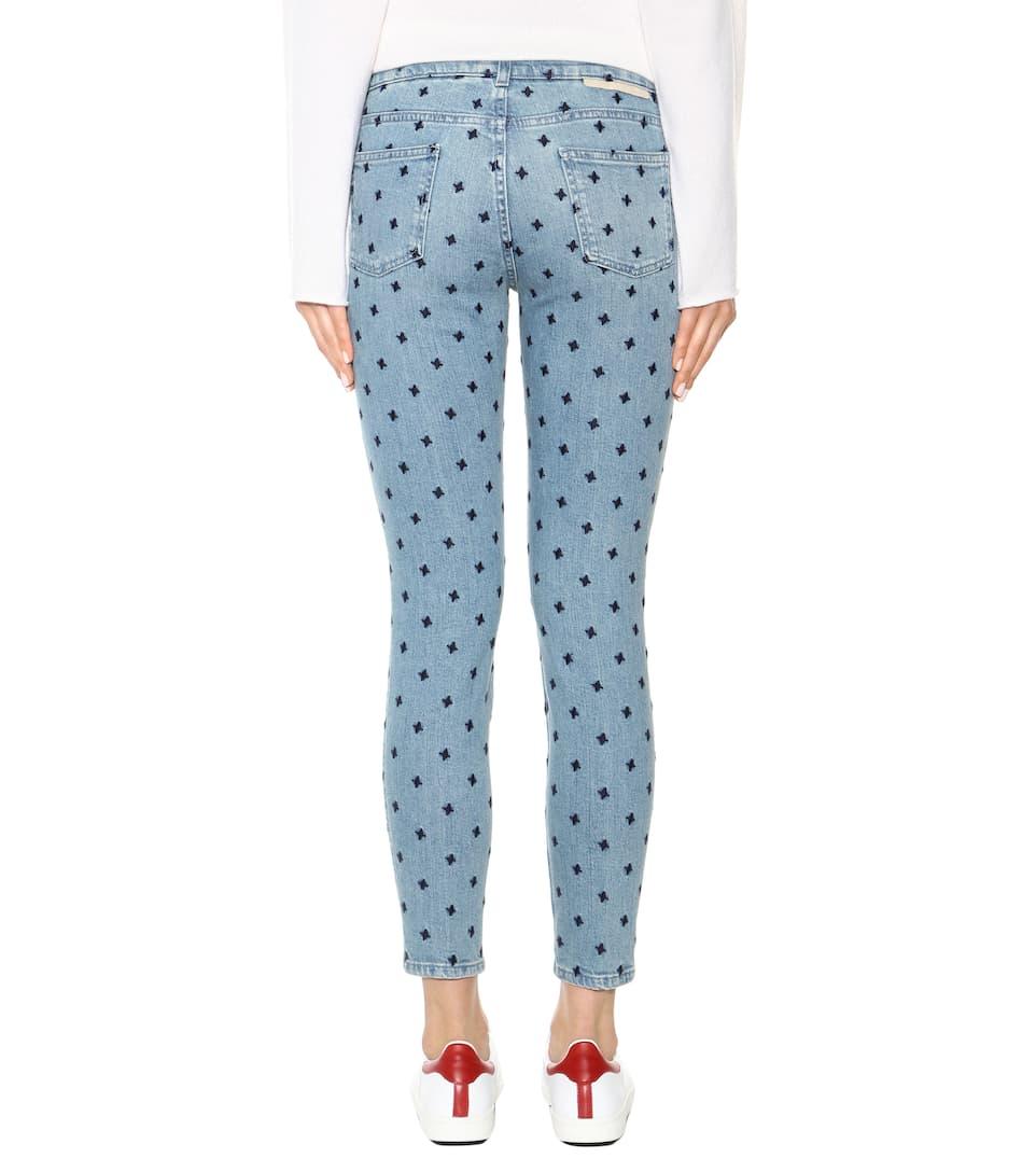 STELLA MCCARTNEY U0026#39;The Skinnyu0026#39; Star Embroidered Boyfriend Jeans (Classic Blue) In Navy Blue ...
