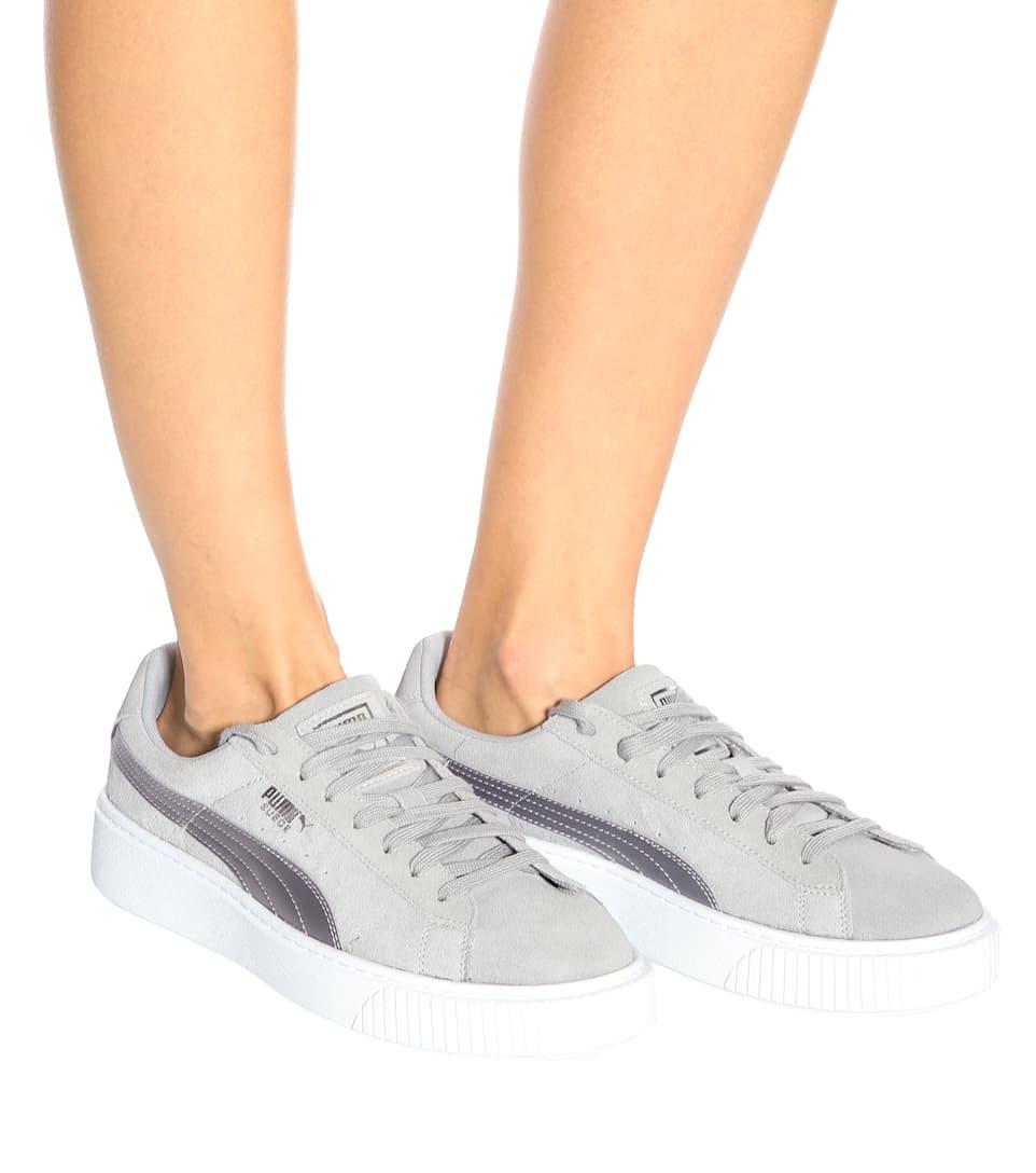 Platform Safari suede sneakers