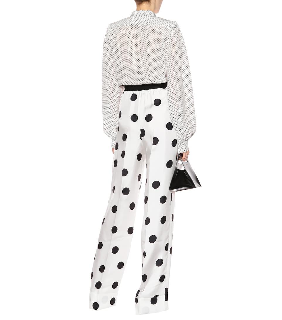 Billig Verkauf Amazon Billig Beste Preise Maison Margiela Bedruckte Hose aus Seide HtfzeUqpd