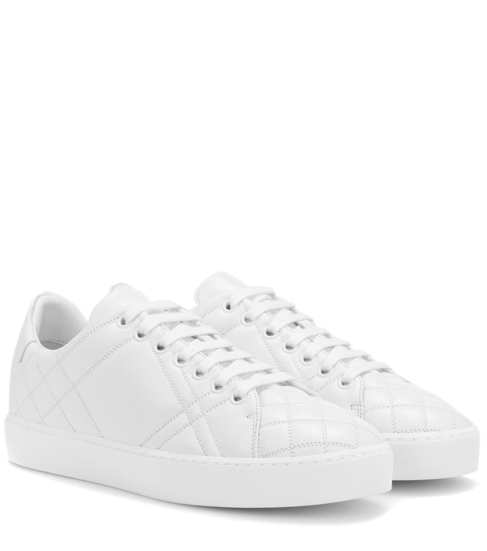 Leather Sneakers by Burberry