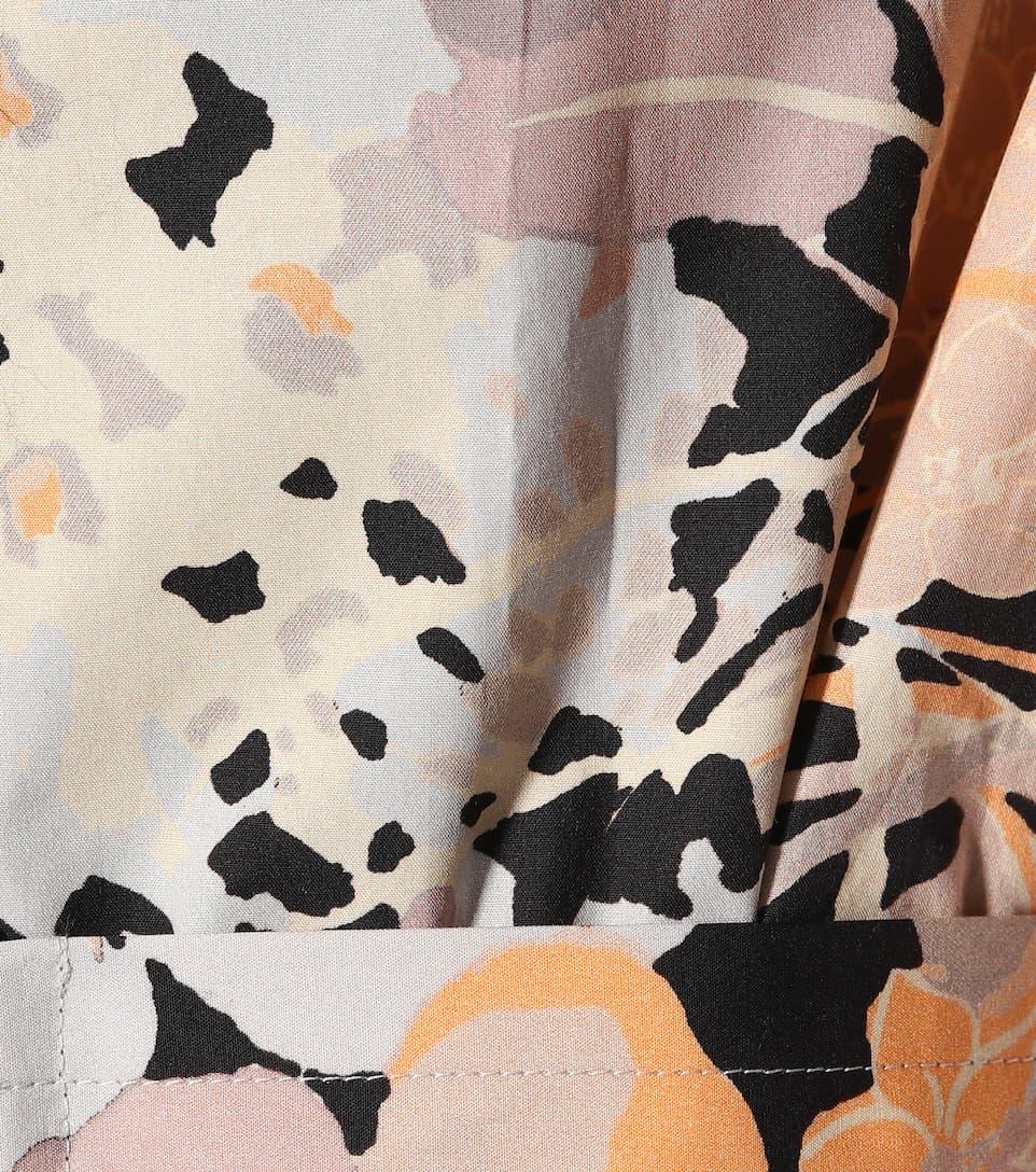 Dries Van Noten Bedrucktes Midikleid Derecha aus Baumwolle Online Billigsten Billige Schnelle Lieferung Preise Im Netz Freiheit Ausgezeichnet AOTRB