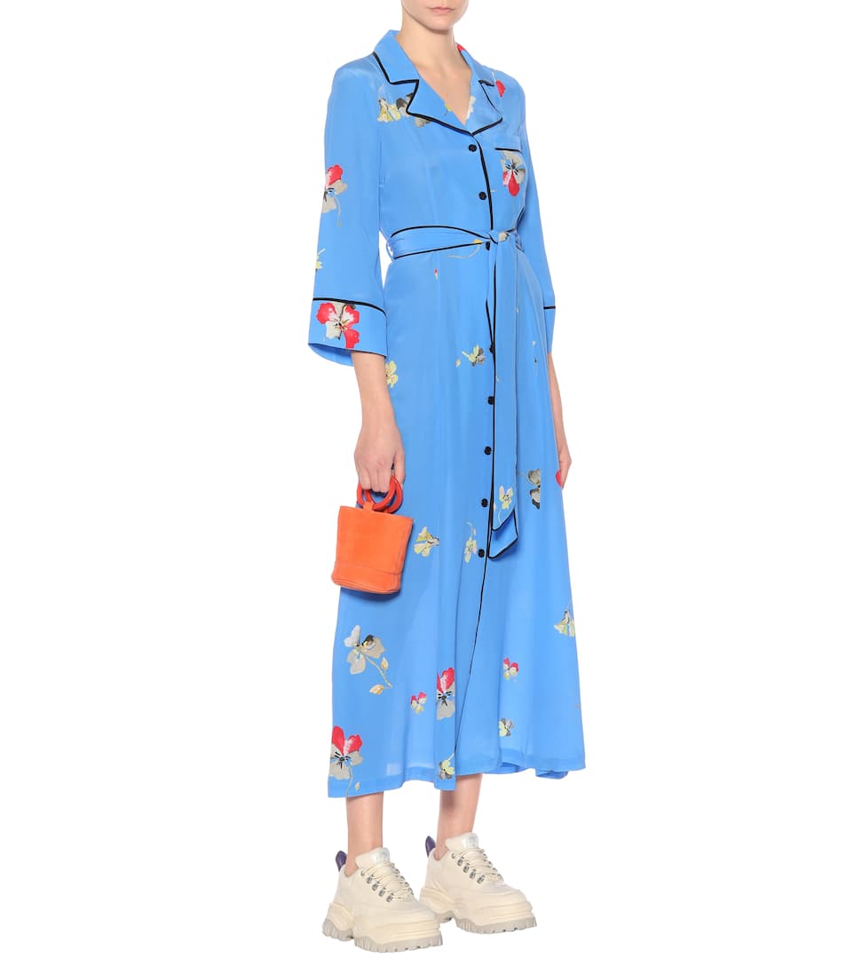 Robe En Soie Imprimée Joycedale - Ganni Acheter Pas Cher 2018 Plus Récent r0cn6iQGZ6