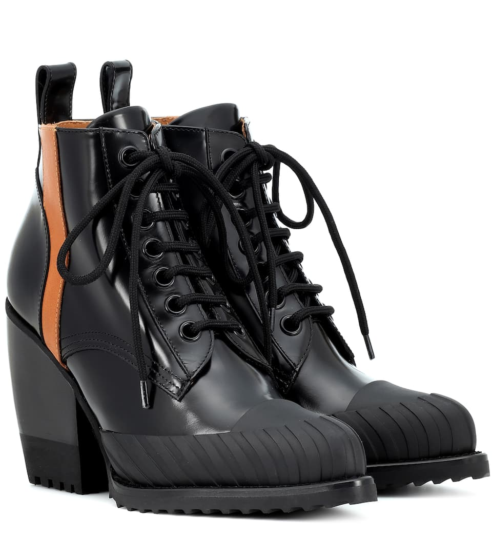 Rylee Leather Ankle Boots - Chloé