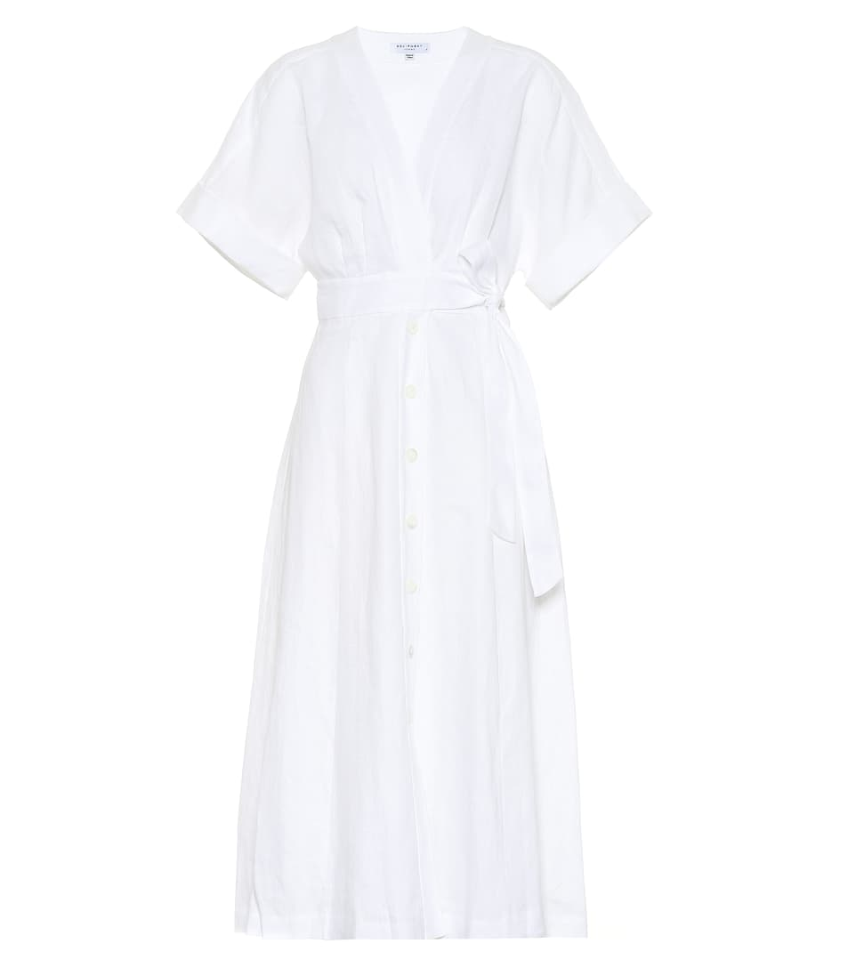 12750ac7a8 Equipment - Nauman linen wrap midi dress