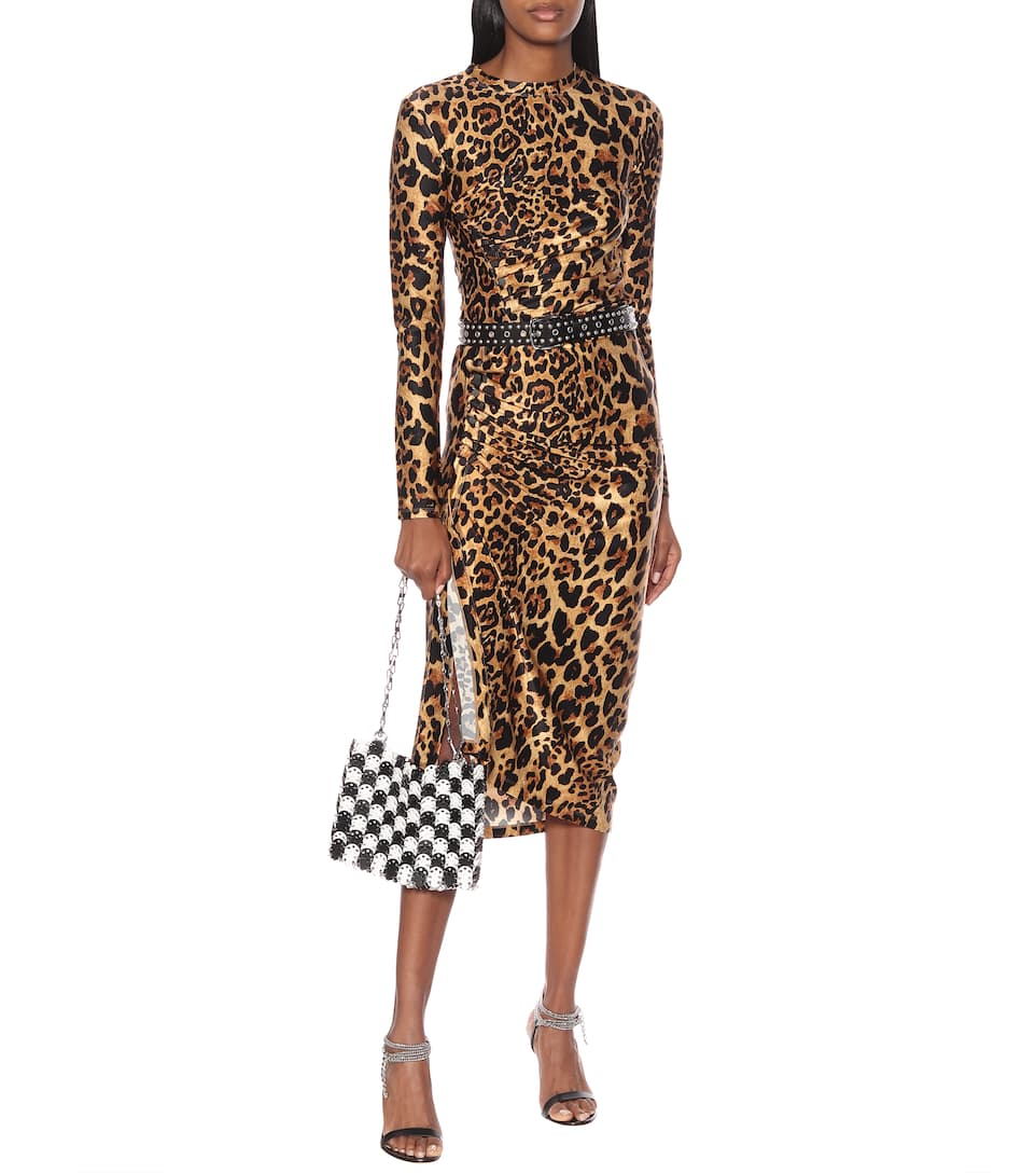 Rabanne Top Paco Stampa A Leopardata cRqAjL345S