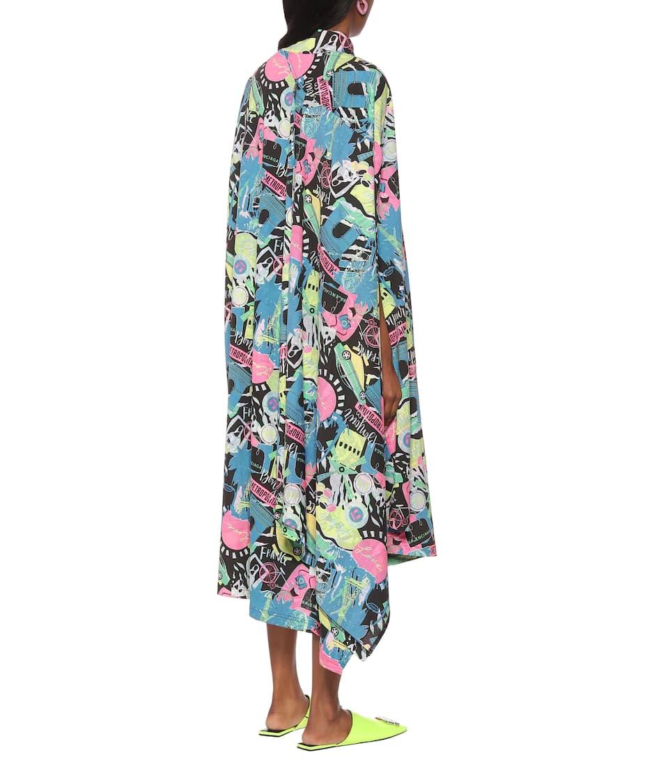 Printed Cotton-Jersey Midi Dress | Balenciaga - Mytheresa