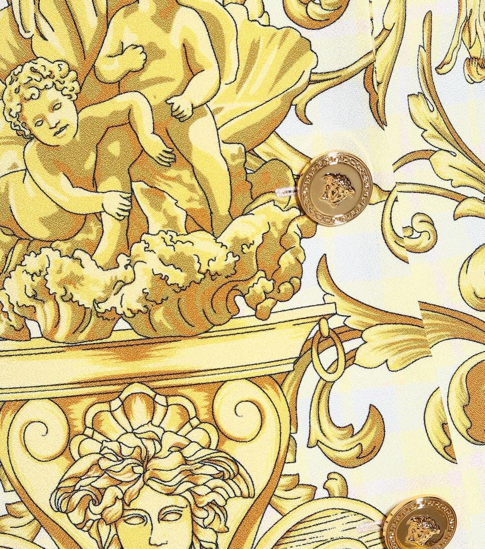 Versace - Exclusive to Mytheresa – Printed cady minidress