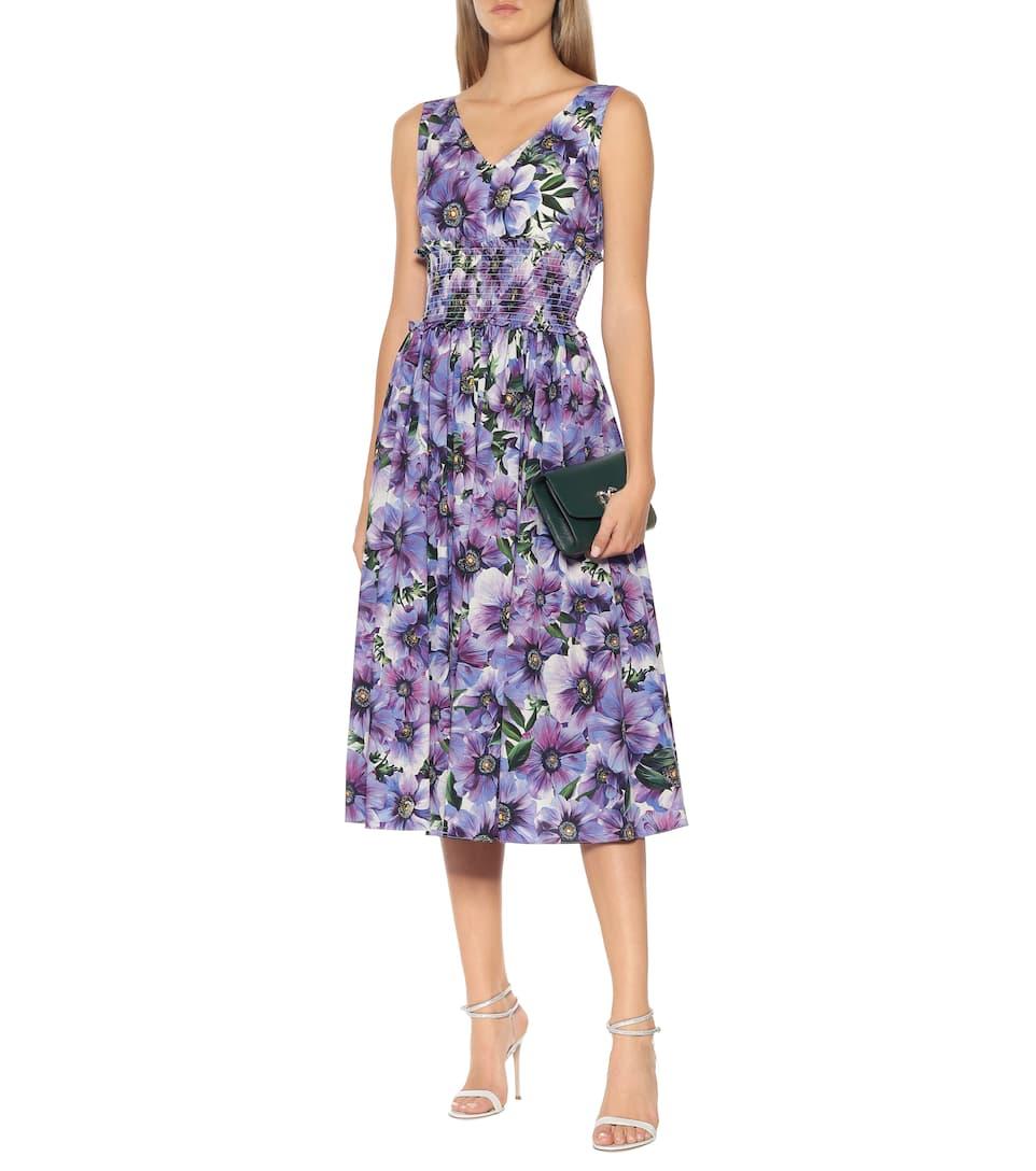 Dolce & Gabbana - Floral cotton poplin midi dress