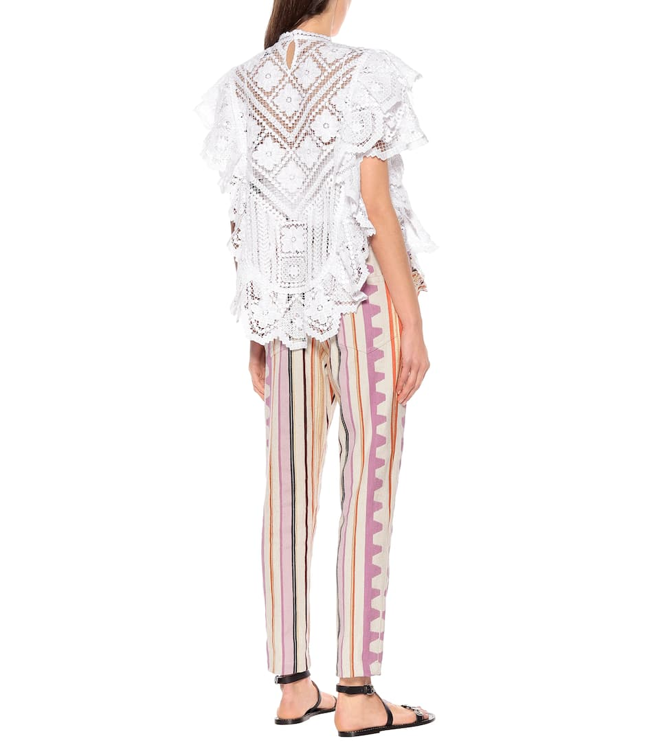 Isabel Marant - Zainos crochet cotton blouse