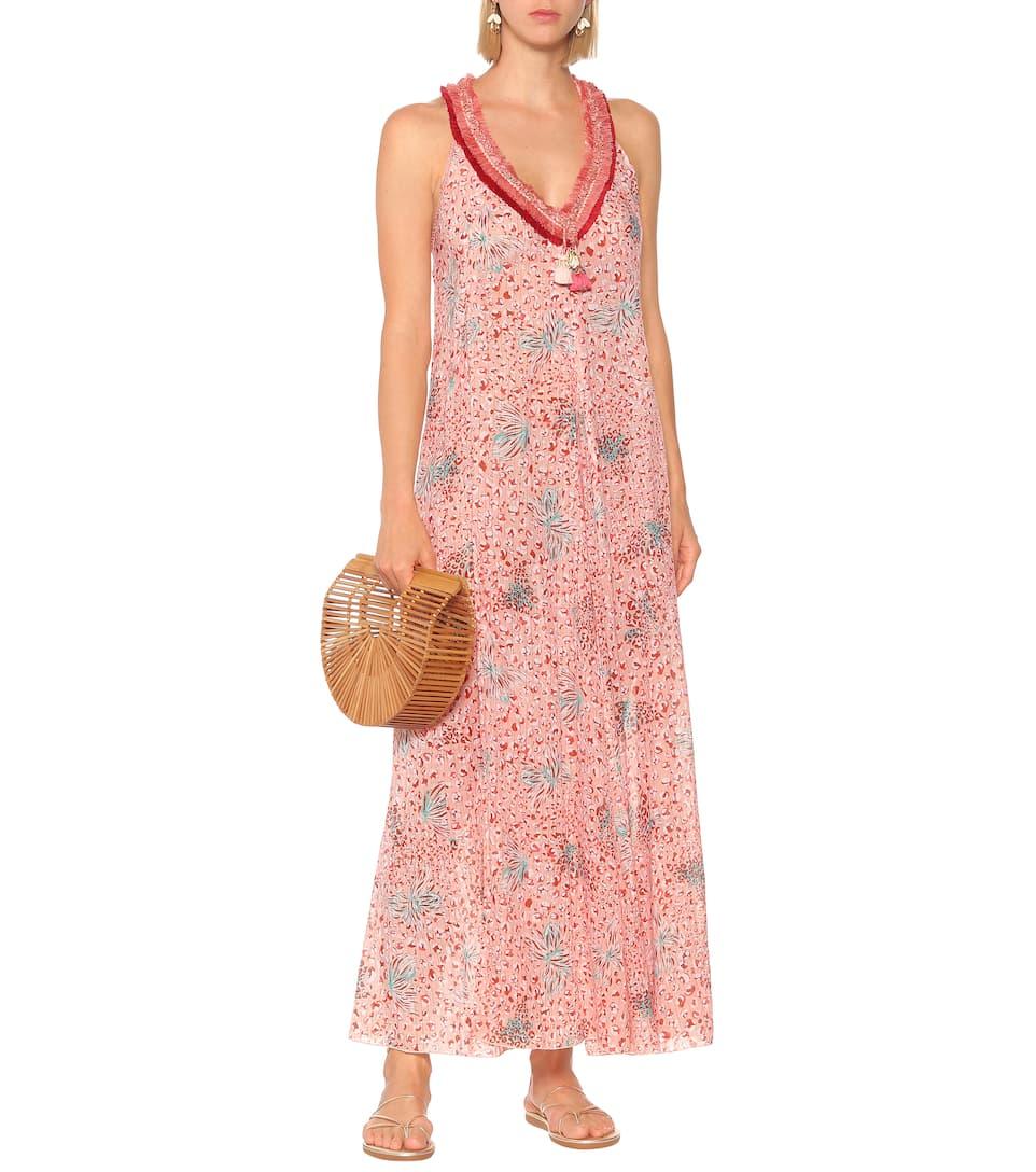 Nava Printed Cotton Maxi Dress Poupette St Barth