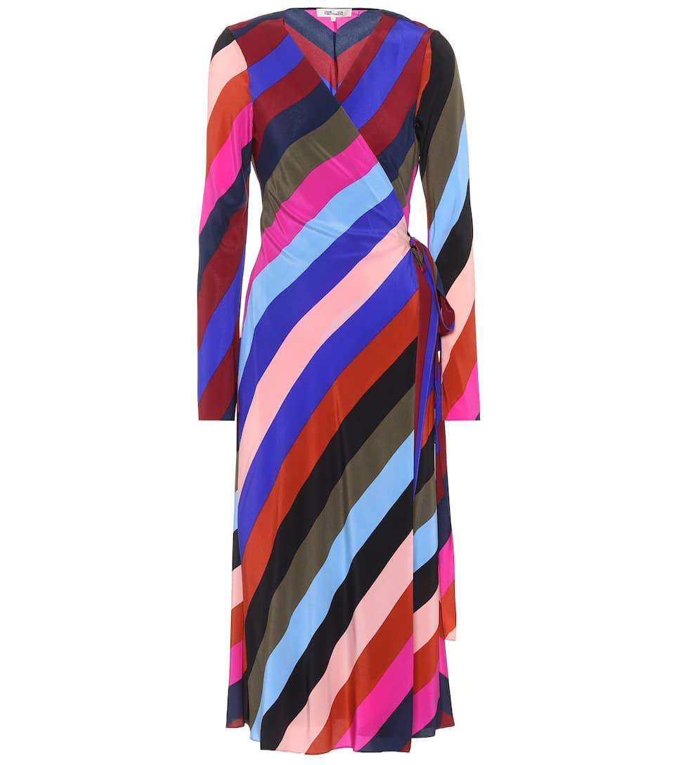 Diane von Furstenberg Bedrucktes Wickelkleid aus Seide