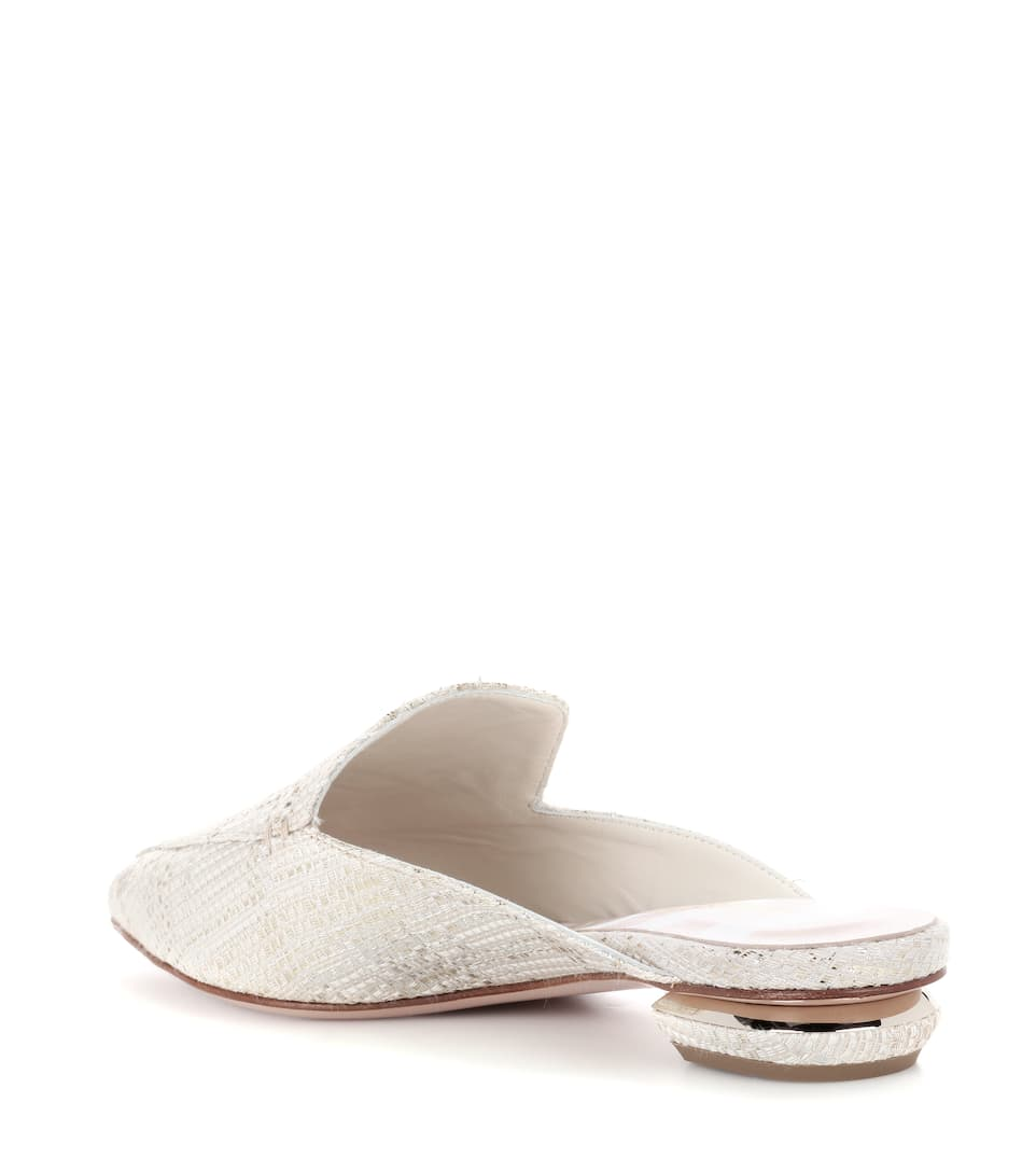 Nicholas Kirkwood Metallic-slippers Beya
