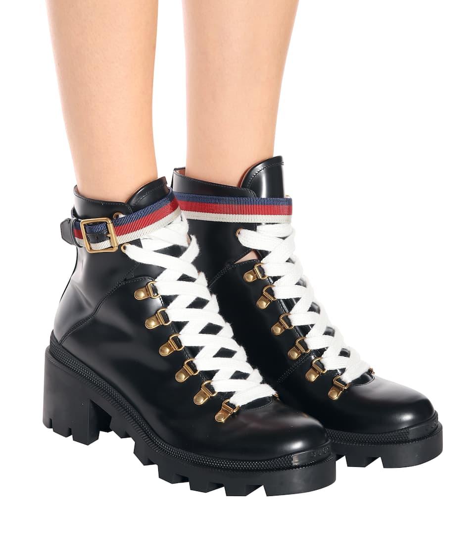 4d54de1e523 Boots Aus Leder Mit Sylvie-Web