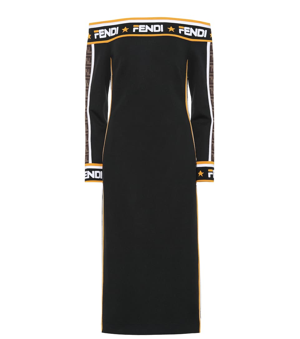 b89fb7089b5 Fendi Mania Jersey Midi Dress - Fendi