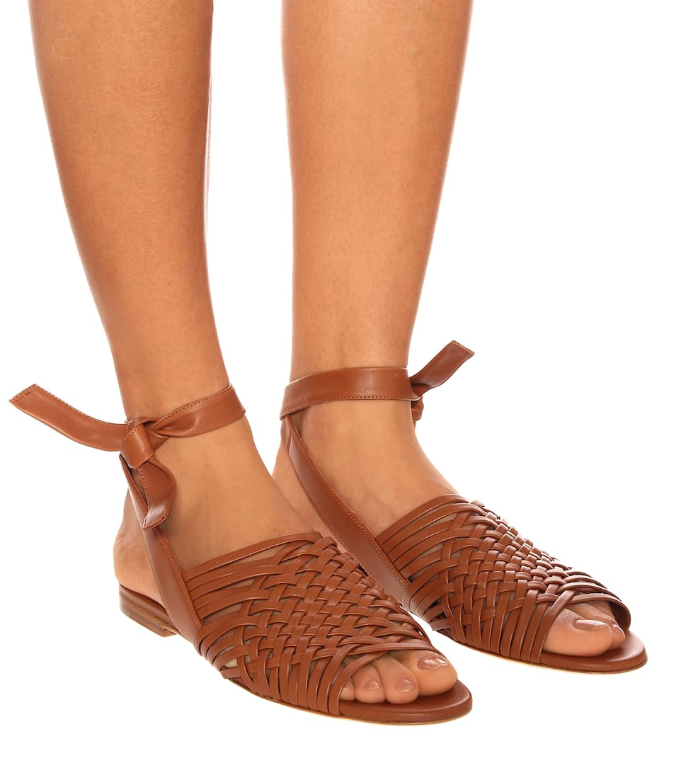 Loro Piana - Kristin Leather Sandals Big Discount