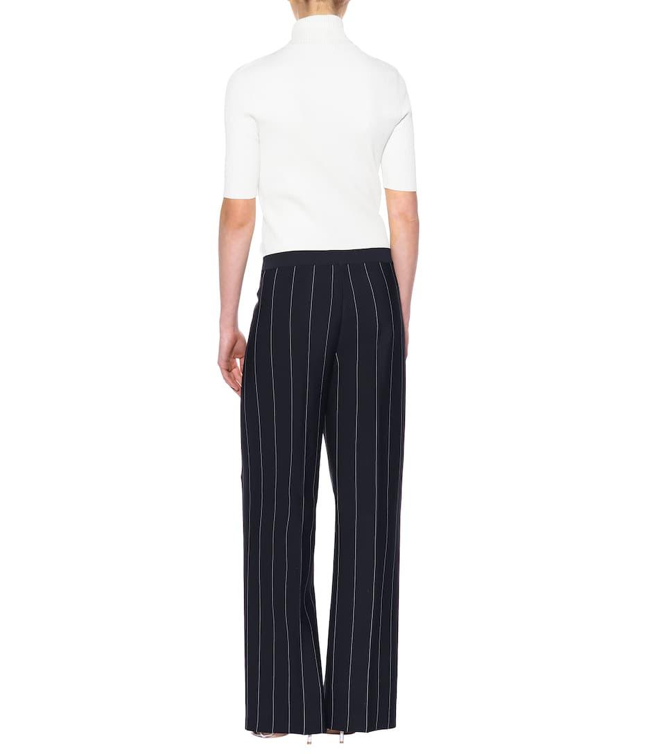 Striped crêpe wide-leg trousers Salvatore Ferragamo ATwZzfbzi