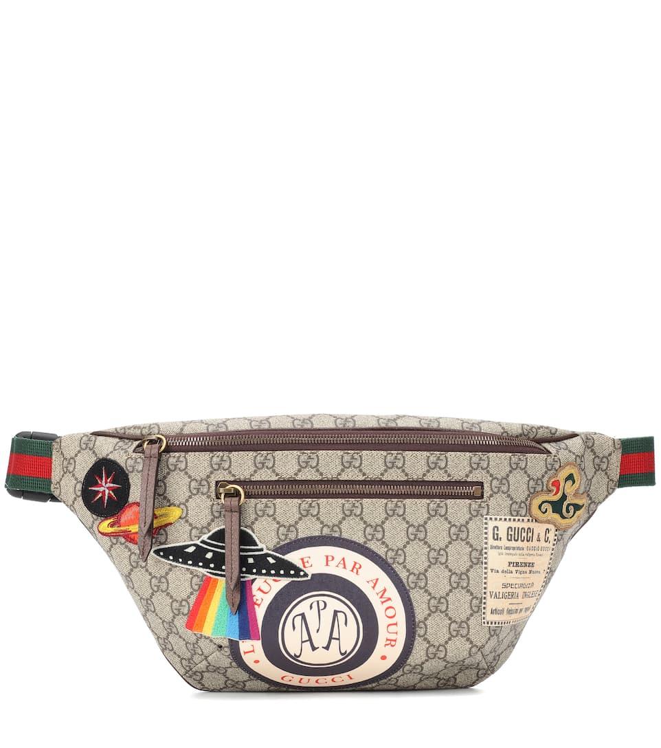 Gucci - Sac ceinture à appliqués GG Supreme Livraison Gratuite Le Moins Cher officiel De La France Pas Cher En Ligne Livraison Gratuite 100% D'origine 100% Garanti Bko1S