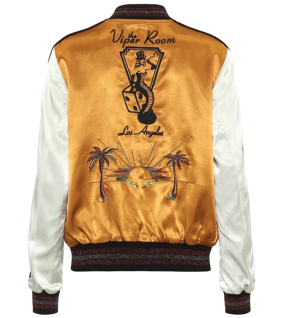 cb458828ae38 Viper Room Satin Bomber Jacket - Coach