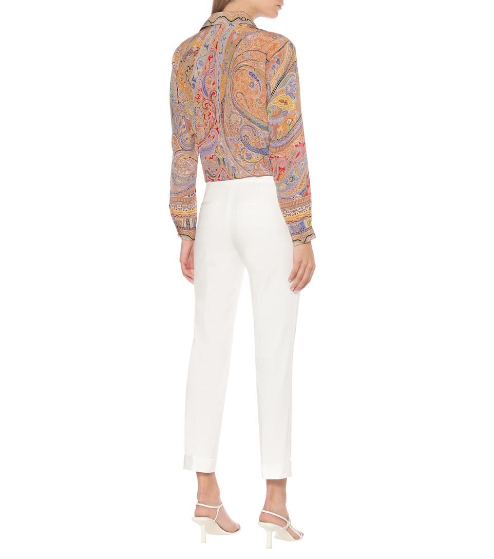 Etro - Mid-rise stretch-cotton pants