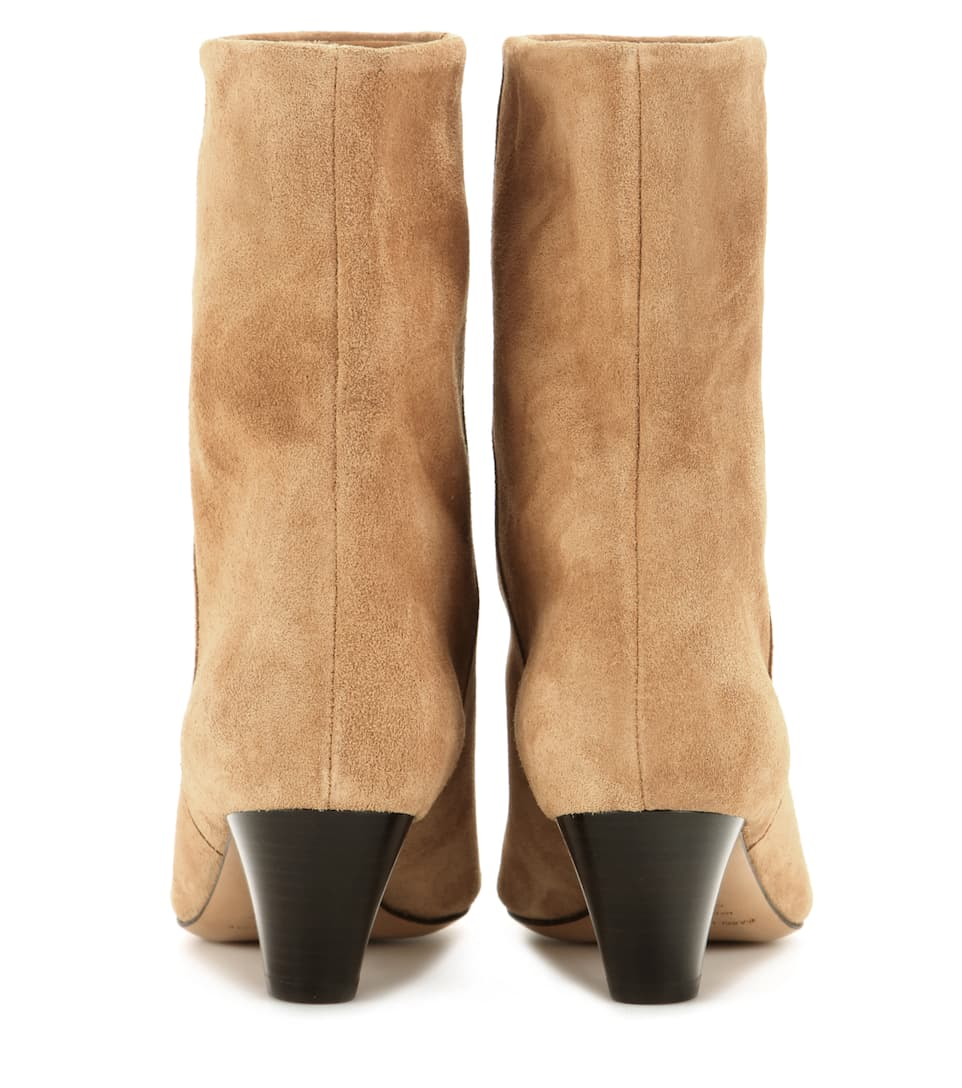 Isabel Marant 201 Toile Dyna Suede Boots In Lrowe Modesens