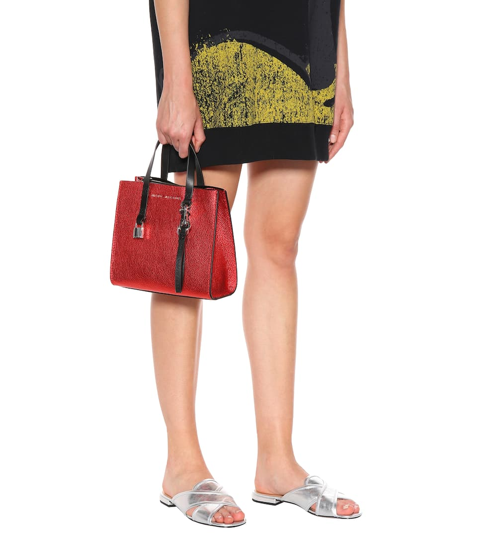 Marc Jacobs The Mini Grind leather tote Poppy Red Cheap Sale 2018 New Low Shipping Fee Online GSBY0kX