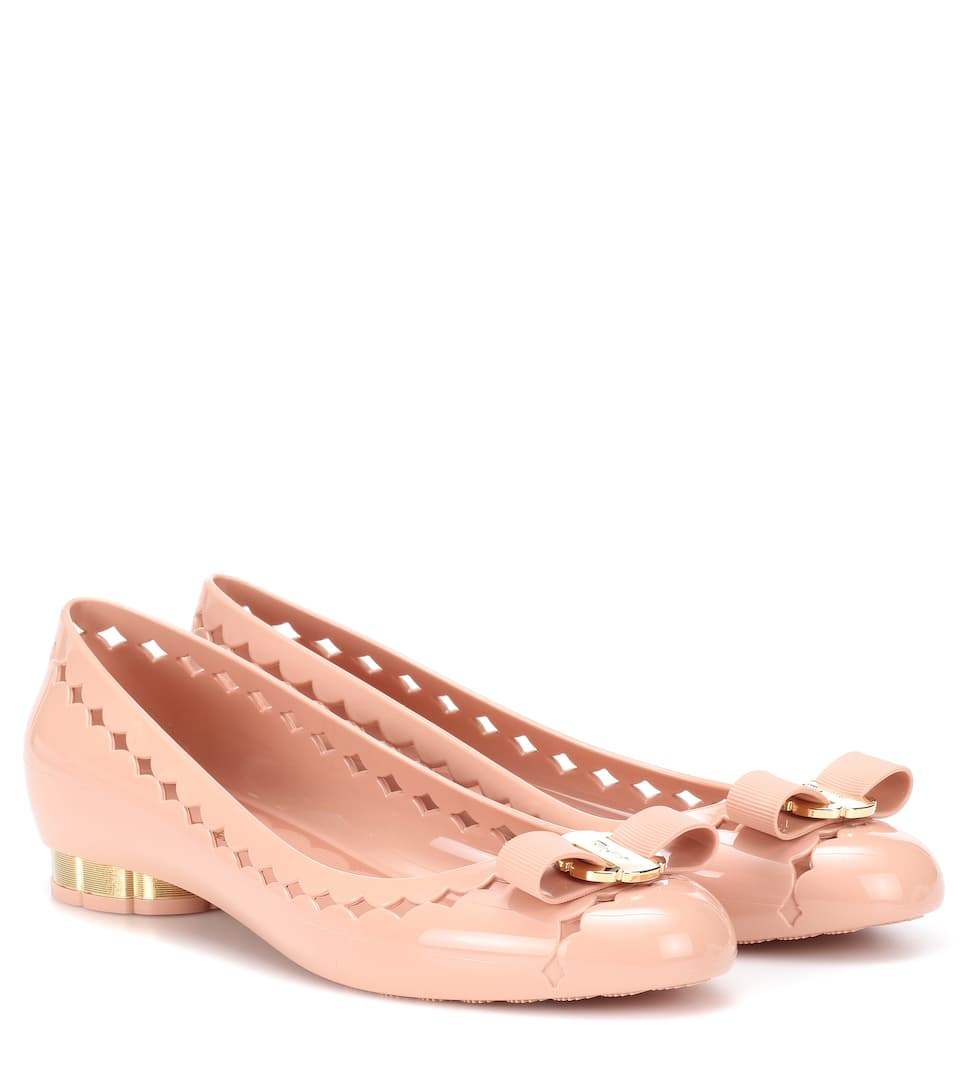 8f93a33d8a4 Vara Bow Jelly Ballet Flats - Salvatore Ferragamo