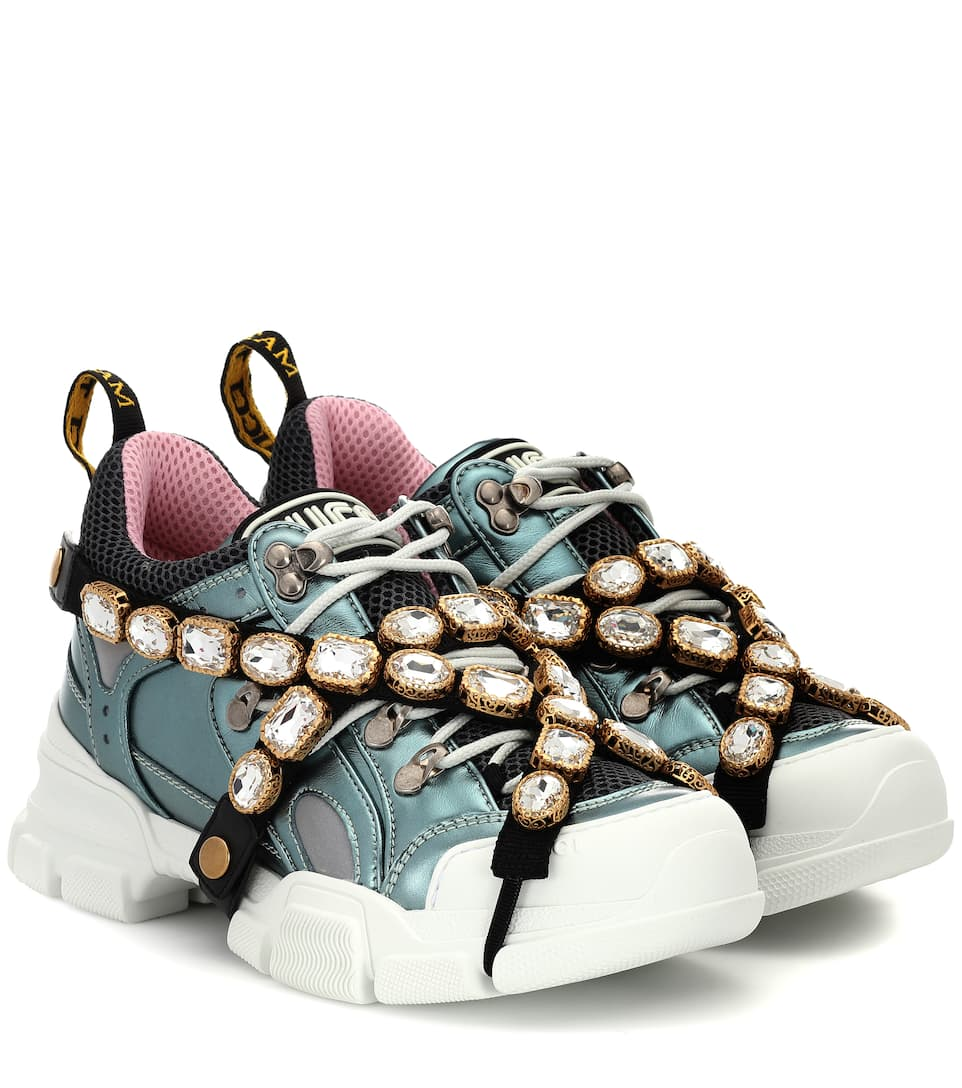 Gucci - Flashtrek leather sneakers | Mytheresa