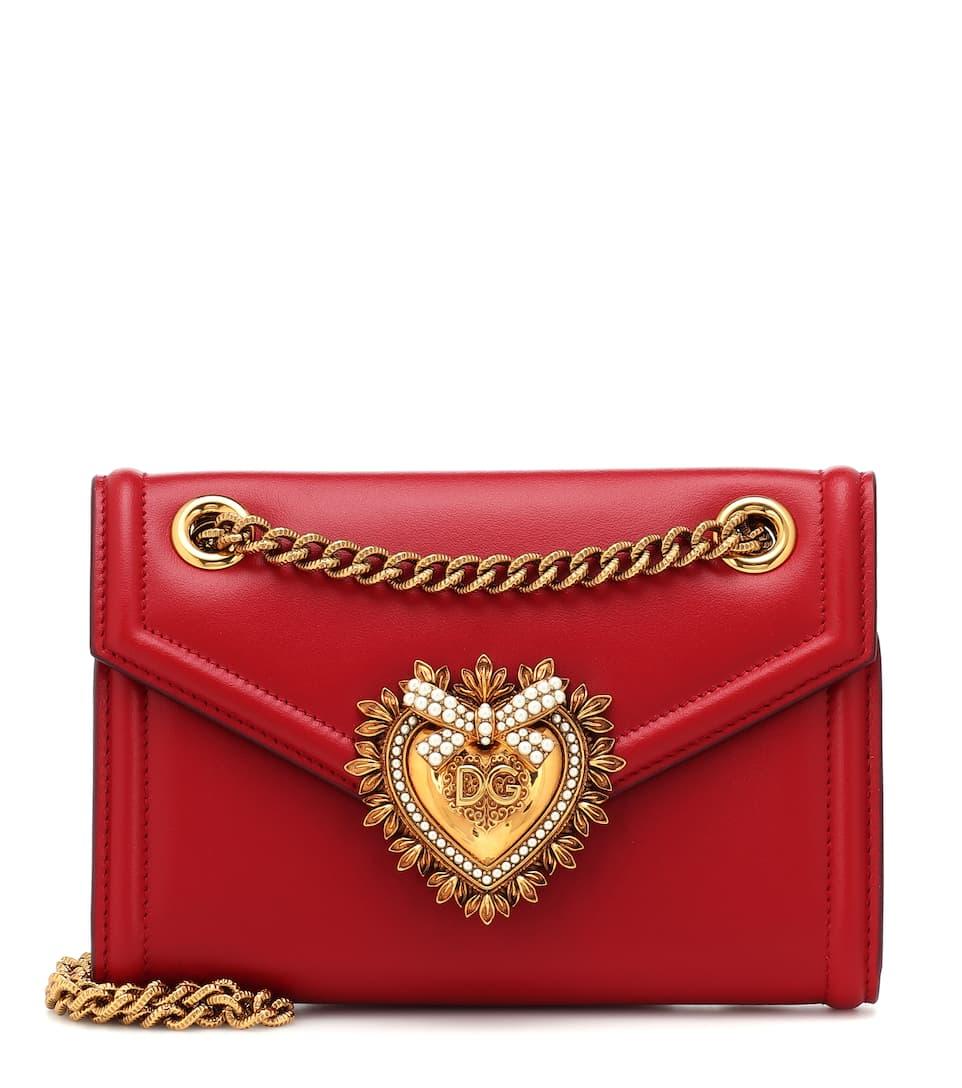 58db21ed1f0f6 Tasche Devotion Mini Aus Leder - Dolce   Gabbana