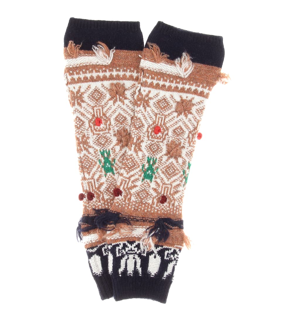 Barrie Cashmere-Handschuhe Twiggy Space
