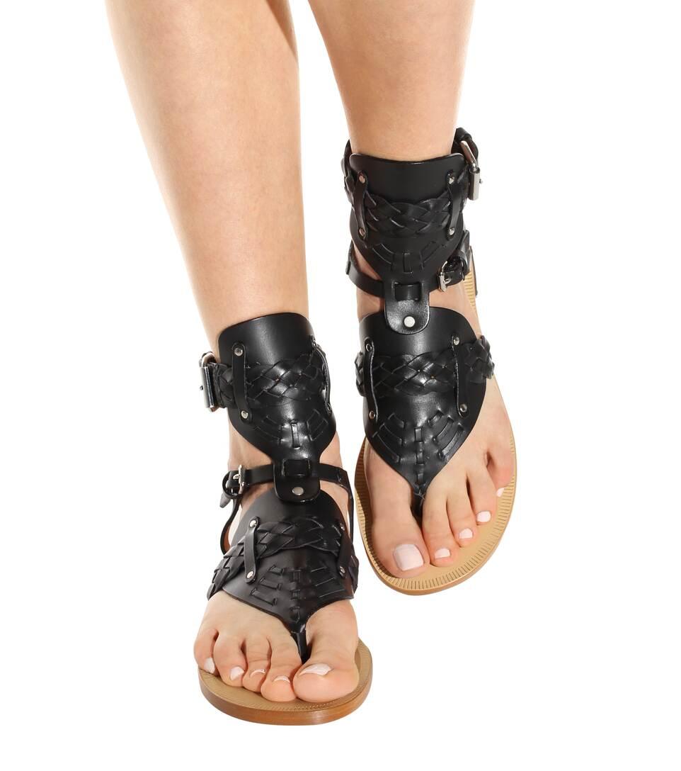 isabel marant toile jalys leather sandals llack modesens. Black Bedroom Furniture Sets. Home Design Ideas