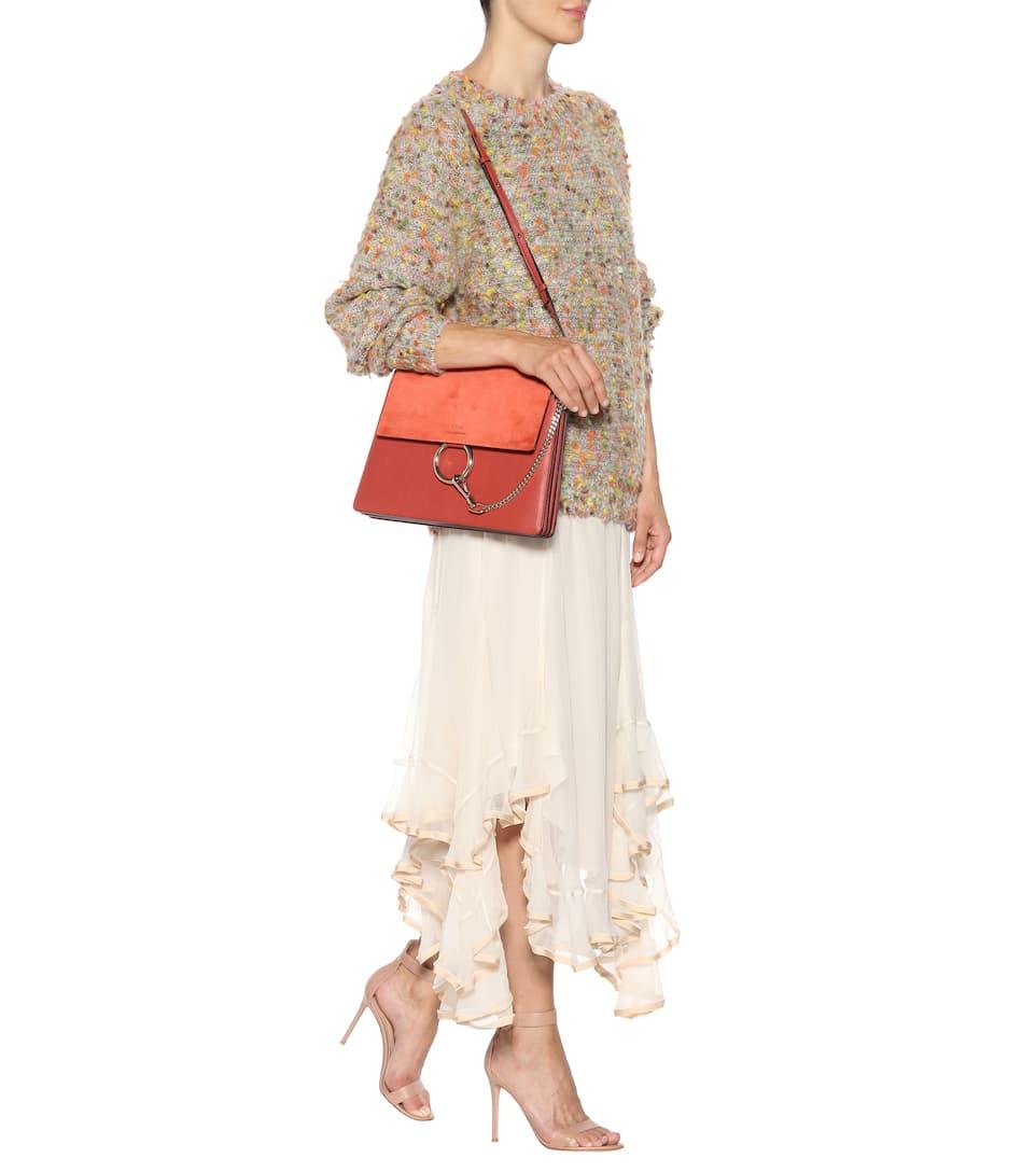 Chloé Tasche Faye aus Leder und Veloursleder